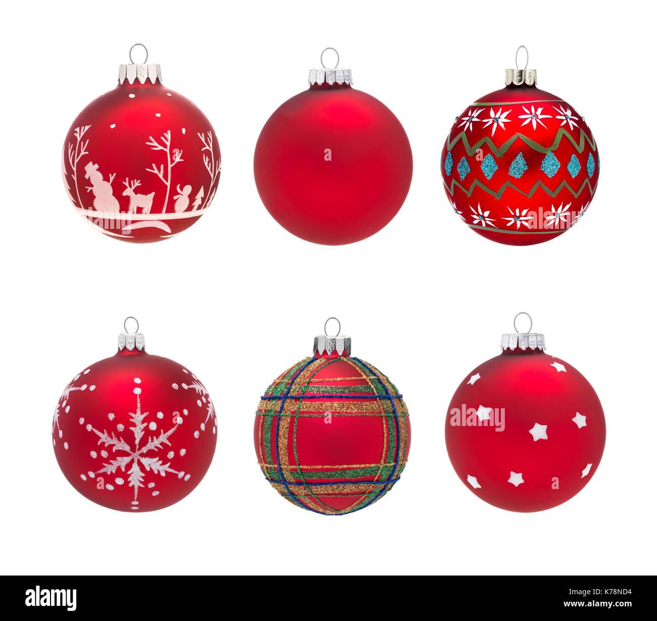 Bolas de Navidad aislado Foto de stock