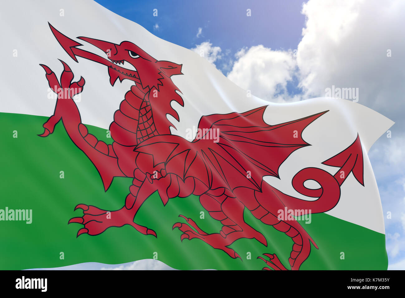 Welsh Dragon Illustration Imágenes De Stock & Welsh Dragon ...