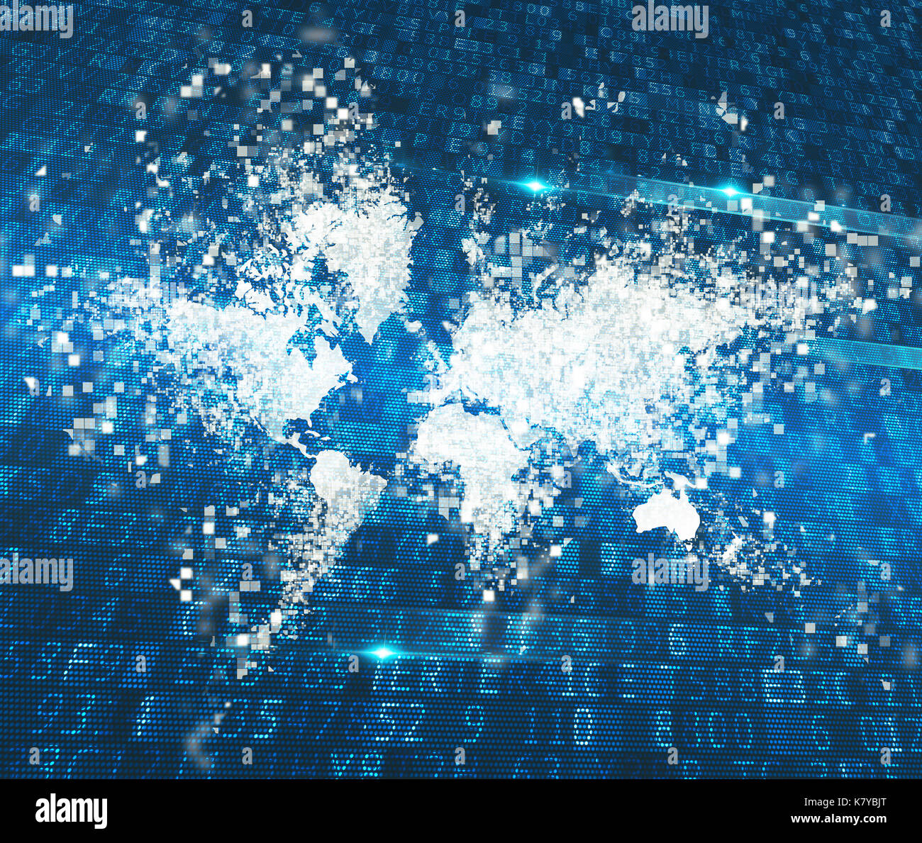 Mundo abstracto. Concepto de conexión global de internet Imagen De Stock