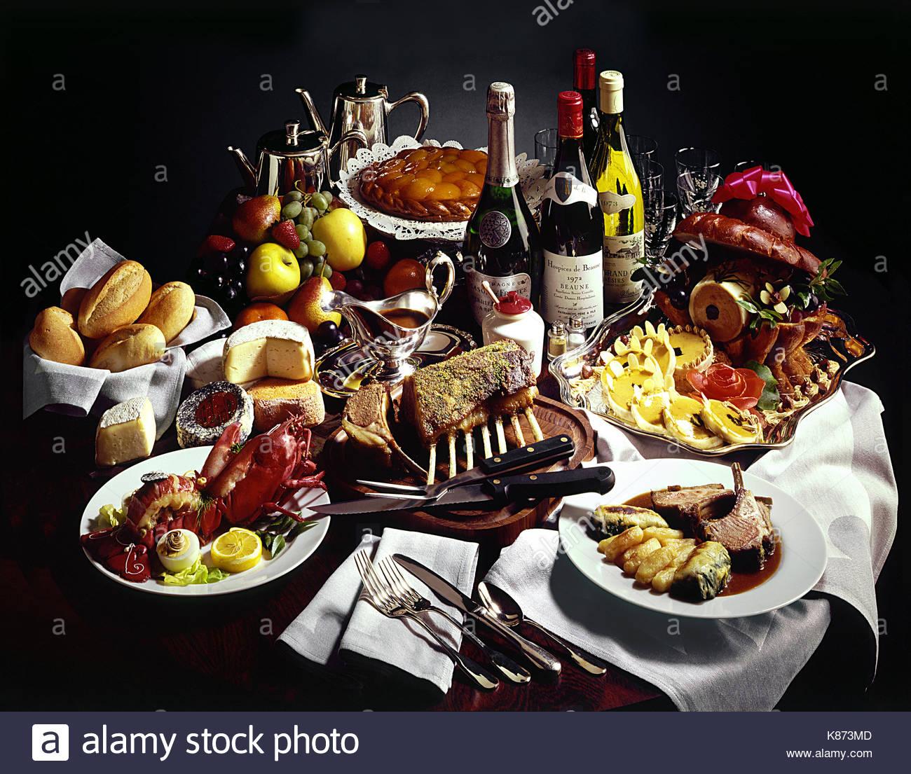Alimentos de gran valor la comida del avión. Imagen De Stock