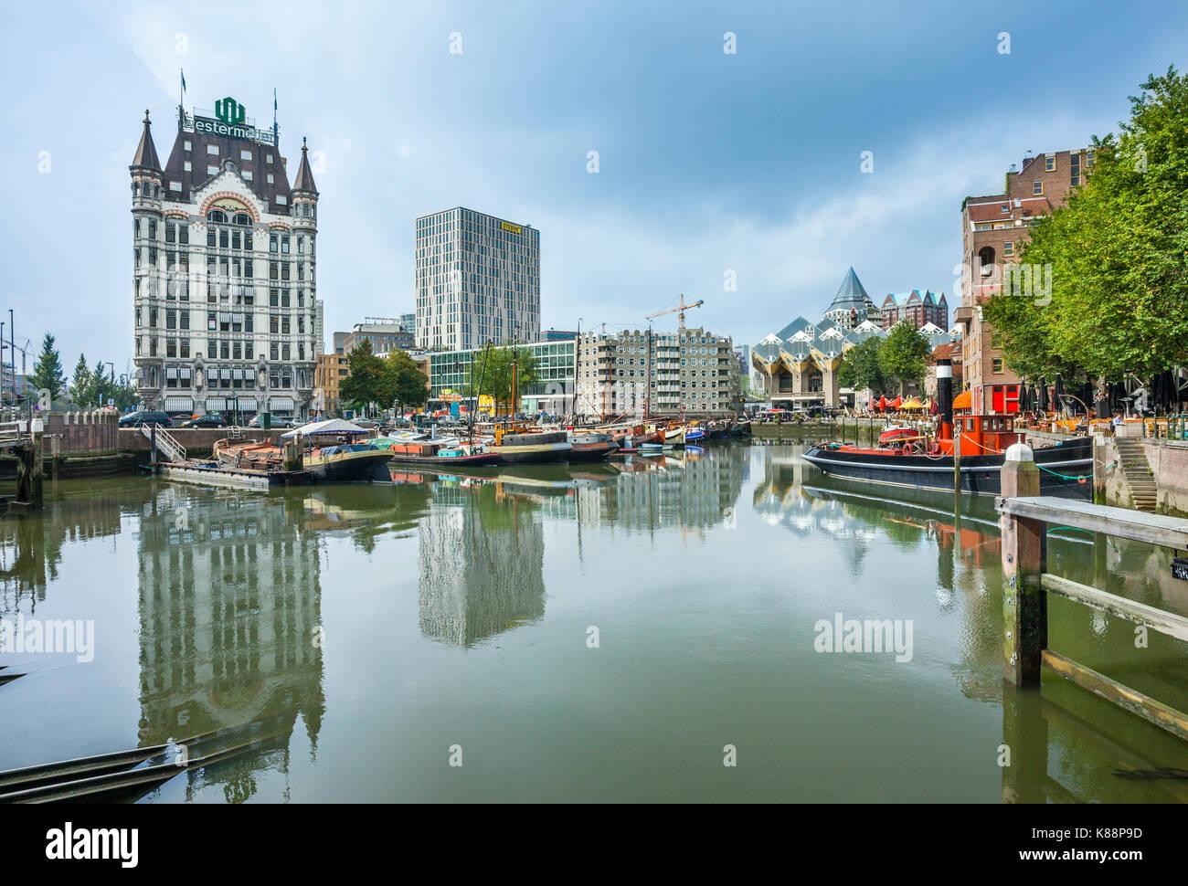 Países Bajos, en el sur de Holanda, Rotterdam, distrito marítimo, vista del estilo Art Nouveau Witte Huis Imagen De Stock