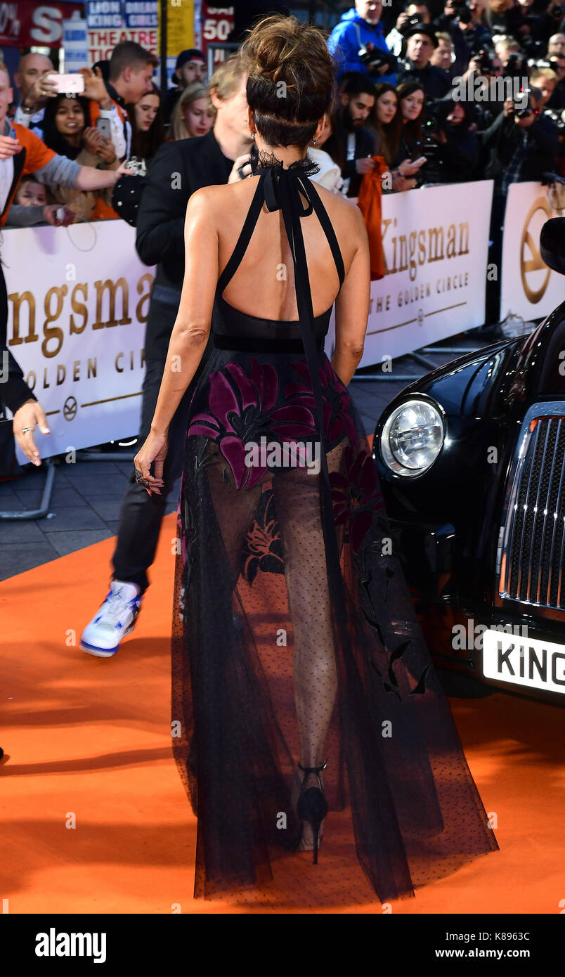 Asistir al estreno mundial de kingsman: El Golden Circle, en cineworld en Leicester Square, Londres. imagen Fecha: Foto de stock
