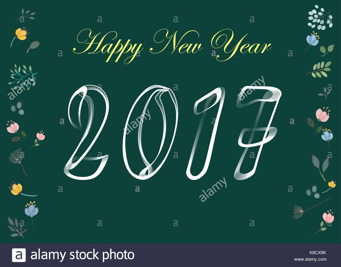 Feliz año nuevo 2017. plantilla de calendario. blanco, símbolos ...