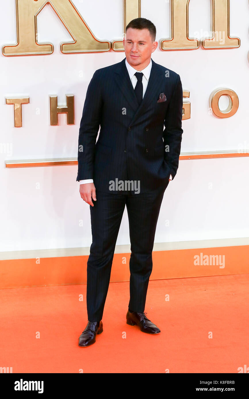 Leicester Square London UK 18 sep 2017. Channing Tatum llegando al kingsman: el círculo dorado estreno mundial Imagen De Stock