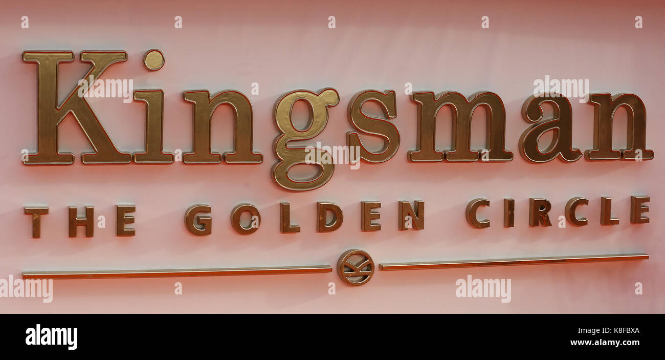 Leicester Square, Londres, Reino Unido. 18 sep, 2017. La kingsman: el círculo dorado estreno mundial en Londres. Foto de stock
