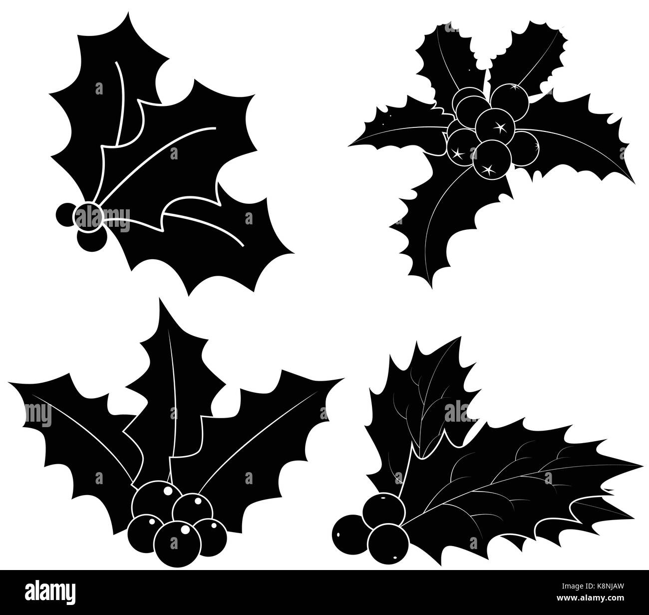 Único Siluetas Navidad Ilustración - Ideas de Decoración de ...