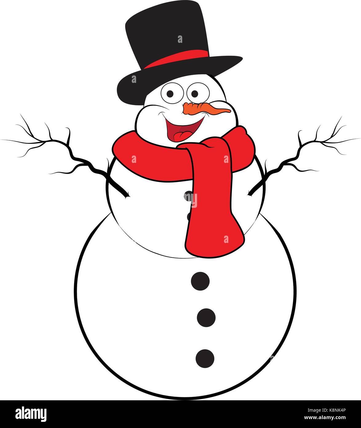 El Muñeco De Nieve De Navidad Diseño De Dibujos Animados Para La