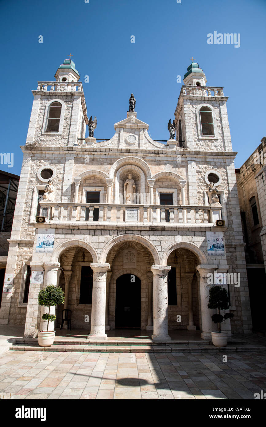Israel, Kafr kanna en la Baja Galilea la boda católica Iglesia Imagen De Stock