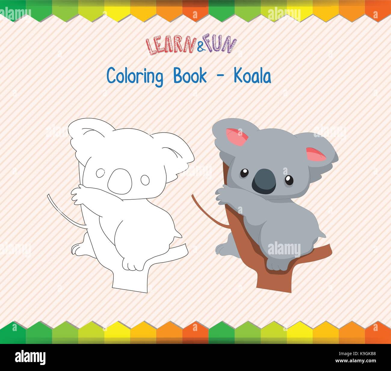 Cartoon Koala Animal Outline Vector Imágenes De Stock & Cartoon ...