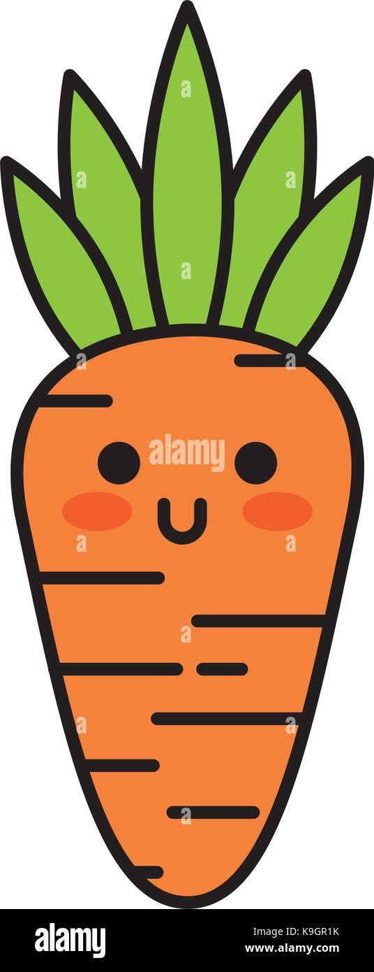 Cartoon Carrot Fotos E Imagenes De Stock Pagina 2 Alamy Es la hortaliza más importante y de mayor consumo de la familia. https www alamy es foto kawaii zanahoria vegetales alimentos divertidos dibujos animados 160794527 html