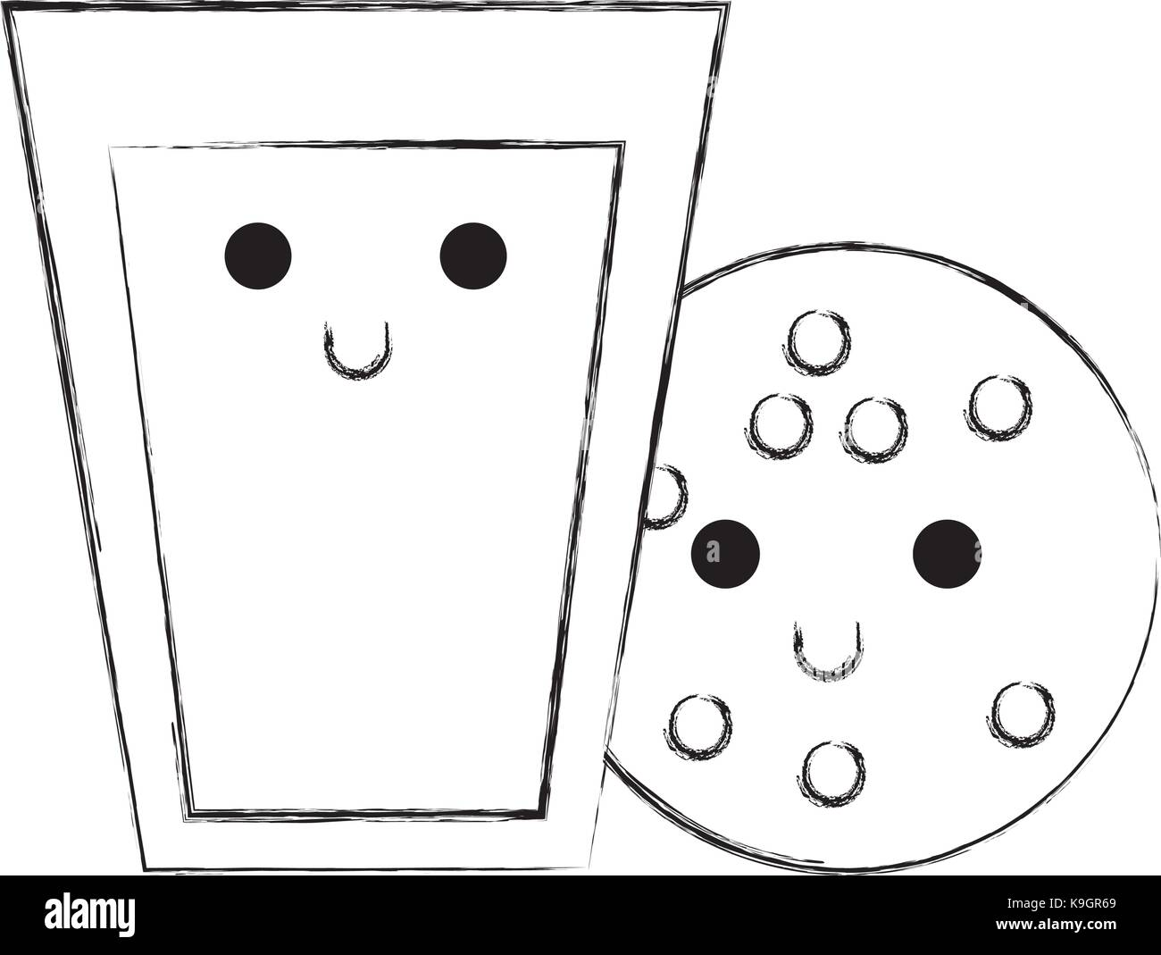 Happy Glass Milk Cartoon Character Imágenes De Stock Happy