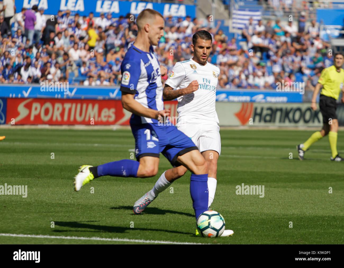 Real Madrid, el centrocampista español ceballos durante la liga santander coinciden entre alaves y el Real Imagen De Stock
