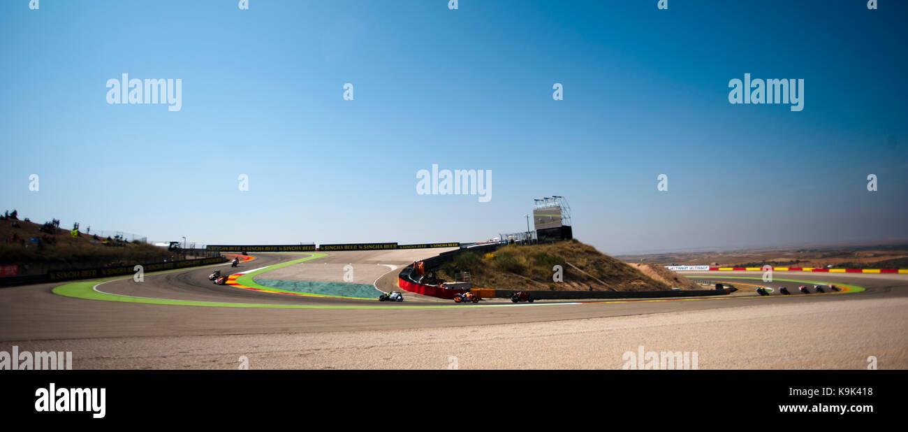 Circuito Alcañiz : Sacacorchos de motorland durante el gran premio movistar de aragón