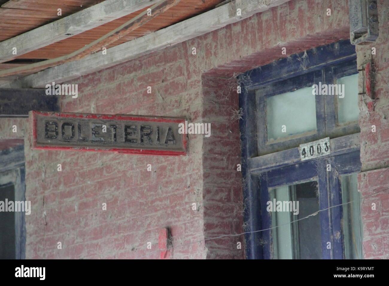 Estación de tren abandonada de la provincia de Santa Fe, Argentina Imagen De Stock