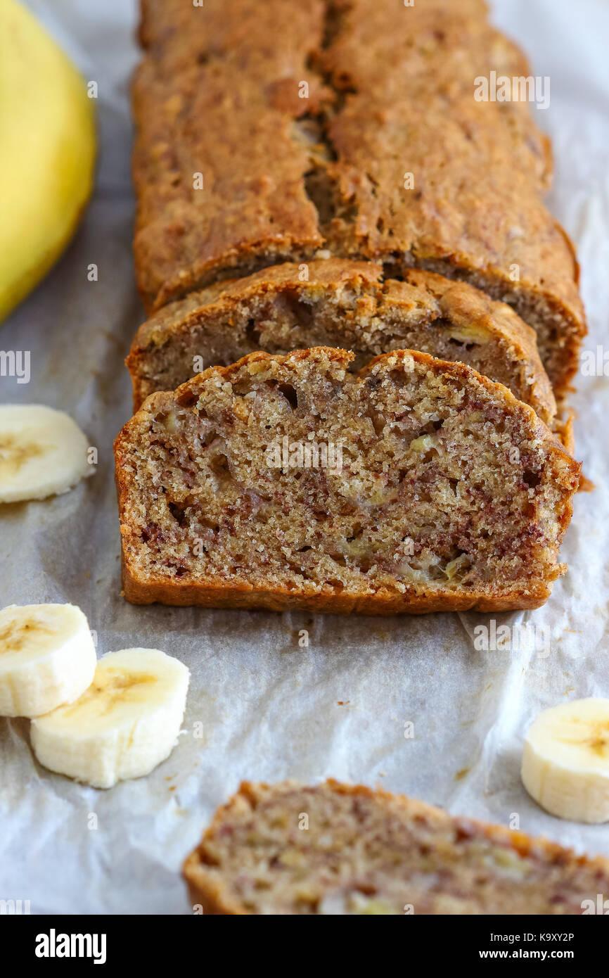 Pan de banana caseros Imagen De Stock