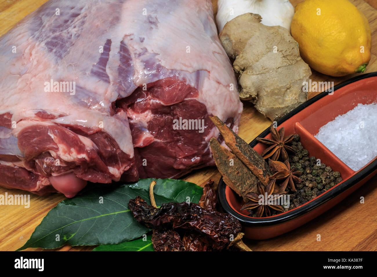 Para una pierna de cordero asado los domingos Imagen De Stock