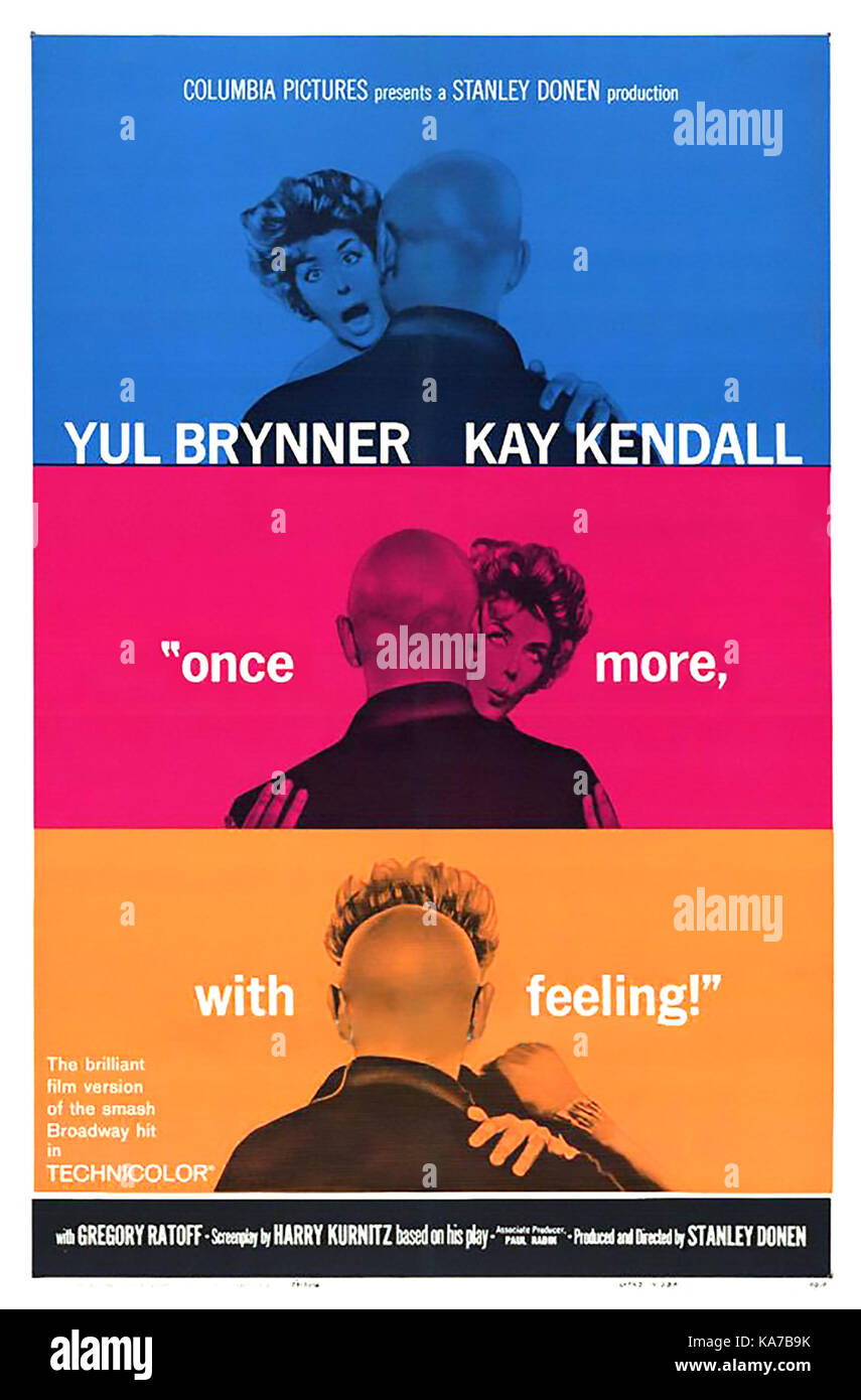 Una vez más, con sentimiento de 1960 Columbia Pictures Film con Yul Brynner y kay kendall Imagen De Stock