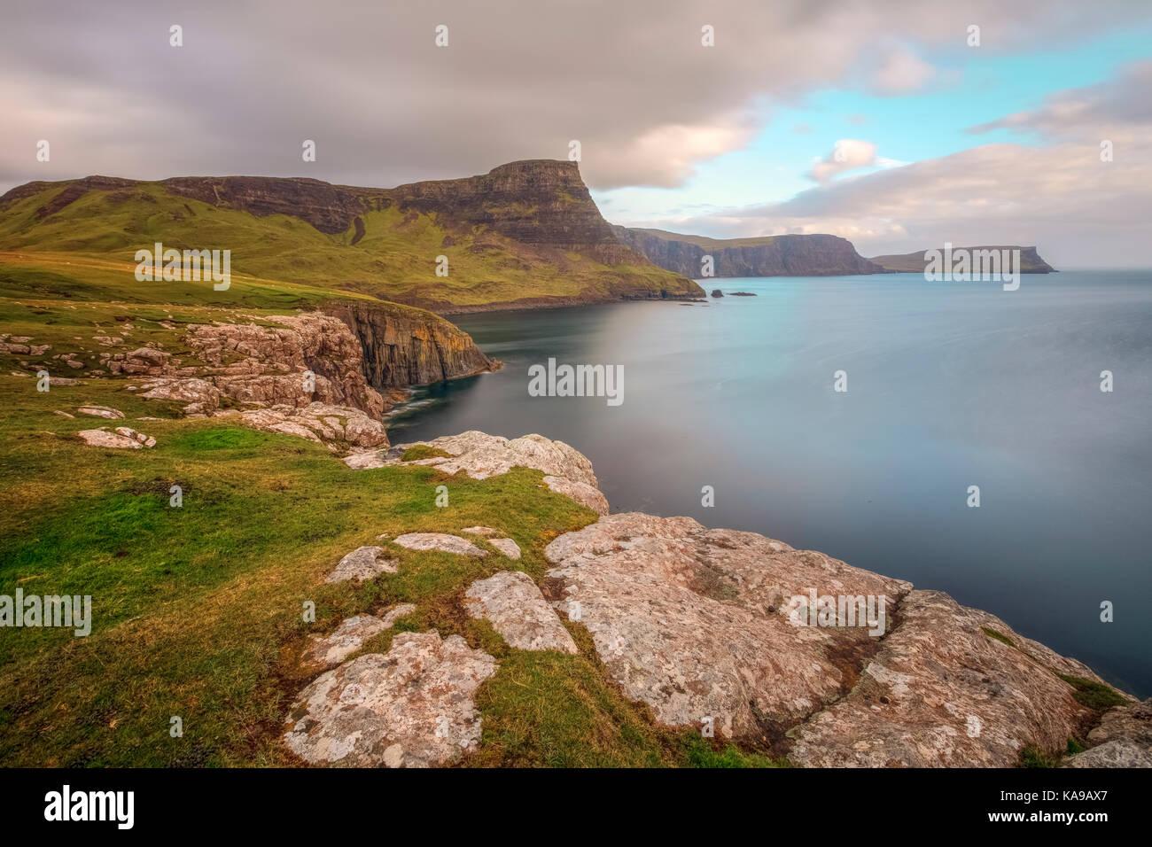 Moonen Bay, Isla de Skye, Escocia, Reino Unido Foto de stock