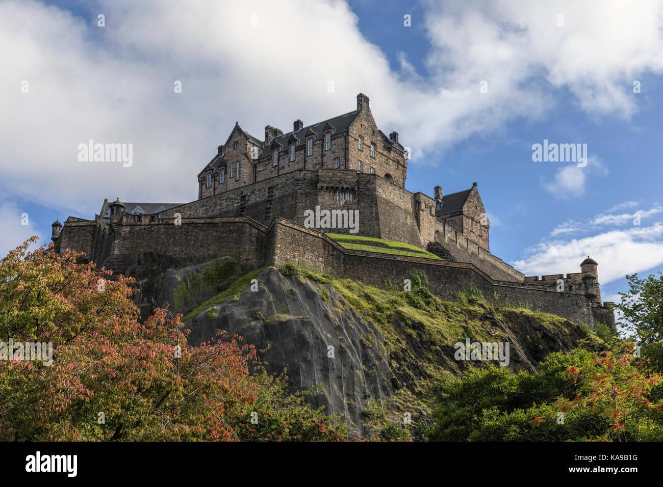 El castillo de Edimburgo, Lothian, Escocia, Reino Unido Imagen De Stock