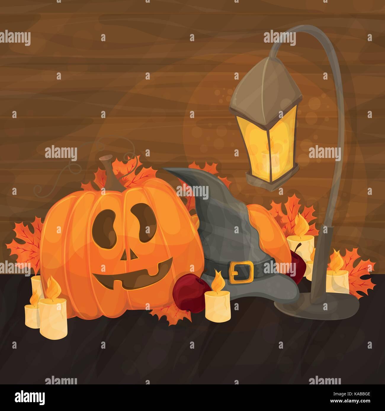 ed15c131eaed6 Ilustración de dibujos animados para halloween - sombrero