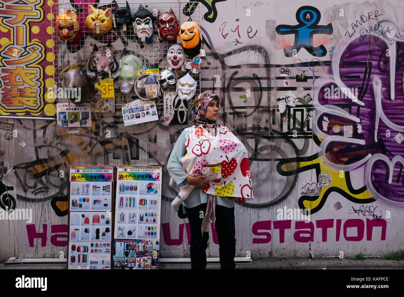 Cada día escena callejera en Japón Imagen De Stock