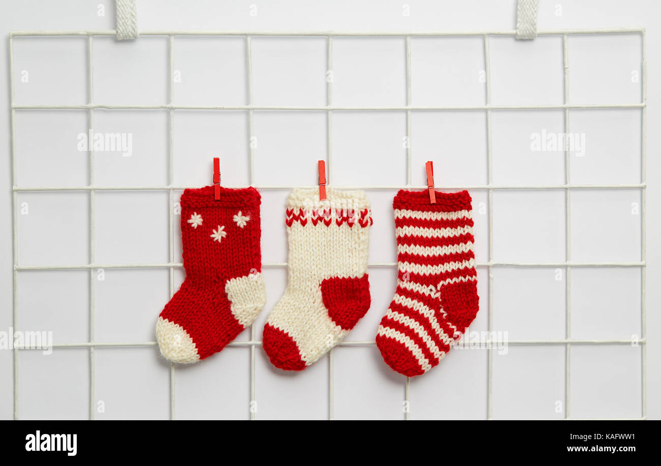 Medias De Navidad. Botitas O Medias Tejidas A Crochet. Medias ...