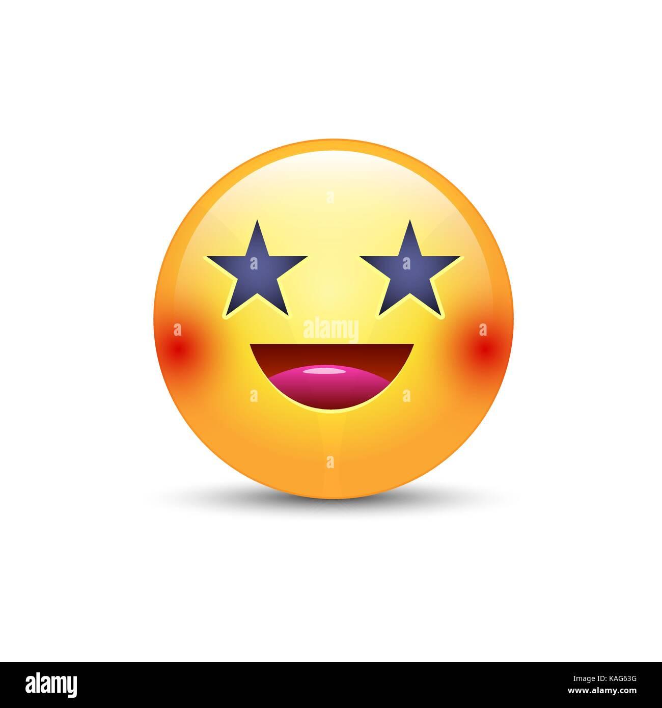 Feliz Riendo Emoji Rostro Con Ojos En Forma De Estrellas