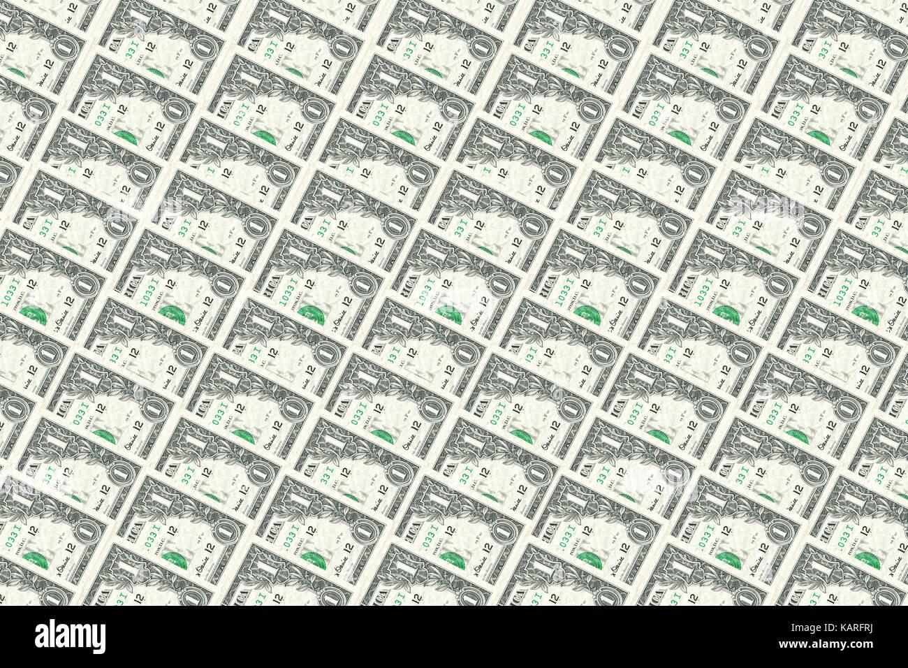 Uno antiguo dólar notas. texturas de fondo y los fondos. Imagen De Stock