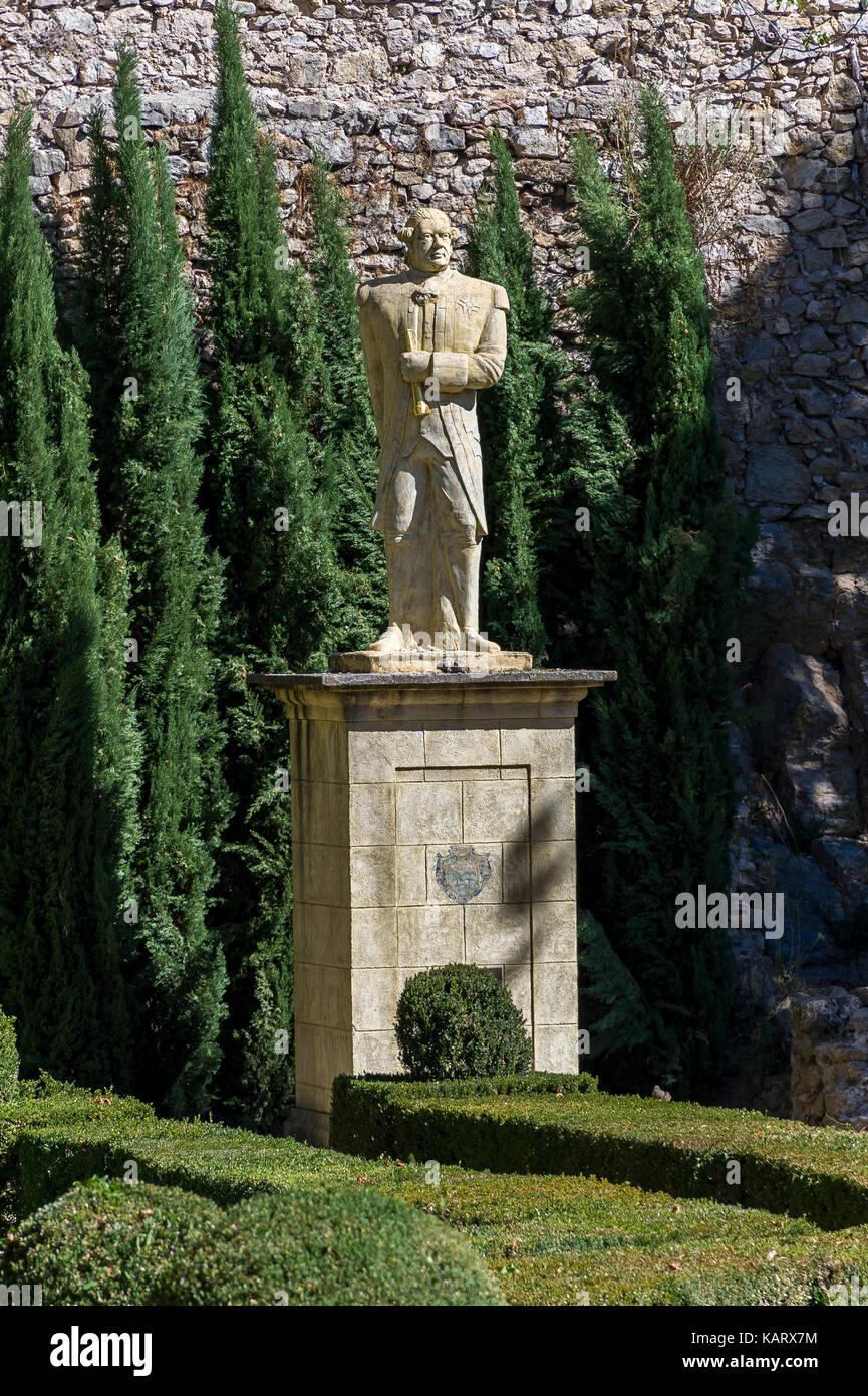 Estatua Antoine Bruny Entrecasteaux Provence Verte / Provence-Alpes-Côte d'azur Var Francia (83) Foto de stock