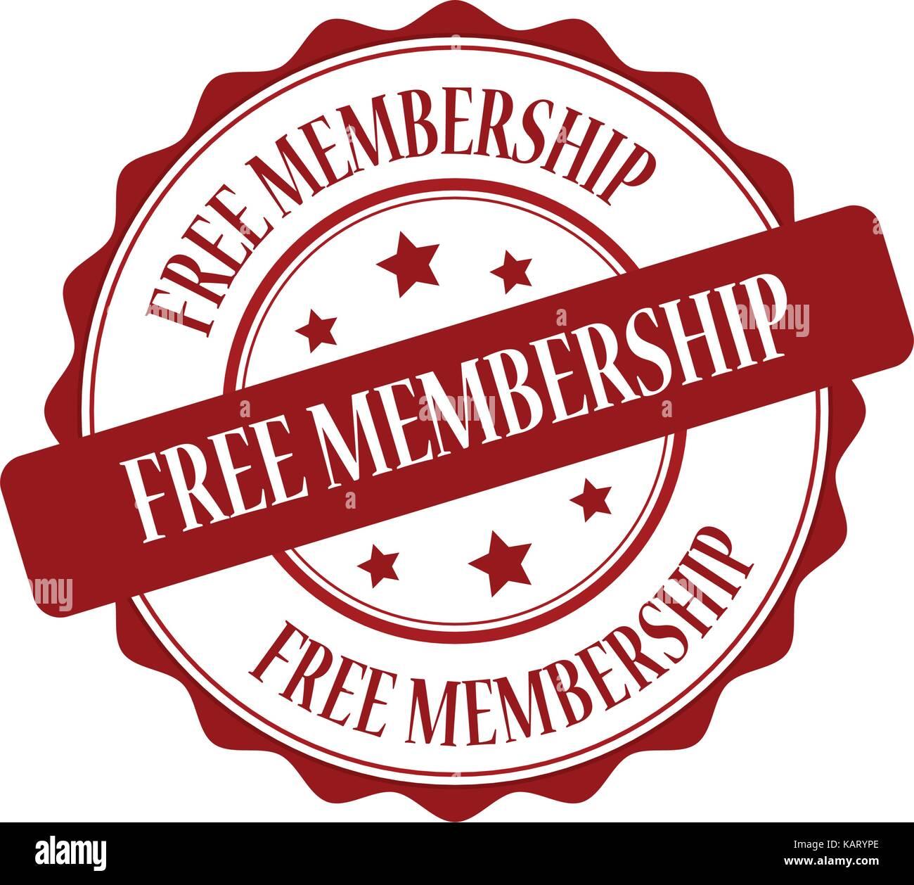 Membresía gratis sello rojo ilustración Imagen De Stock