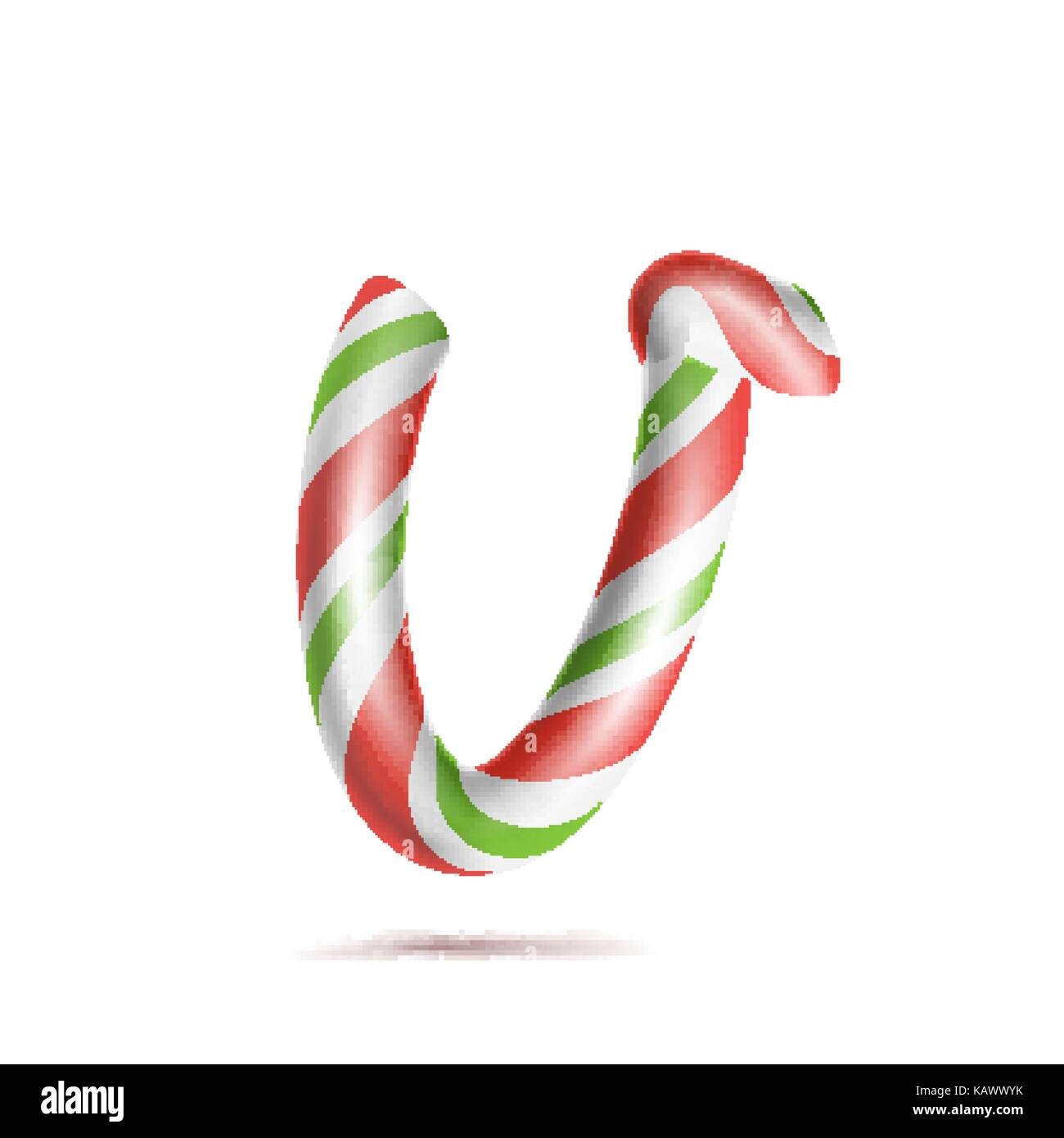 Christmas Candy Cane 3d Font Imágenes De Stock & Christmas Candy ...