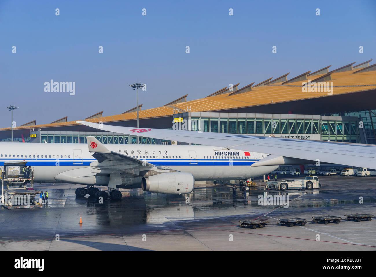 Beijing, Jan 3: Air China de el aeropuerto internacional de Beijing en Beijing, China Imagen De Stock