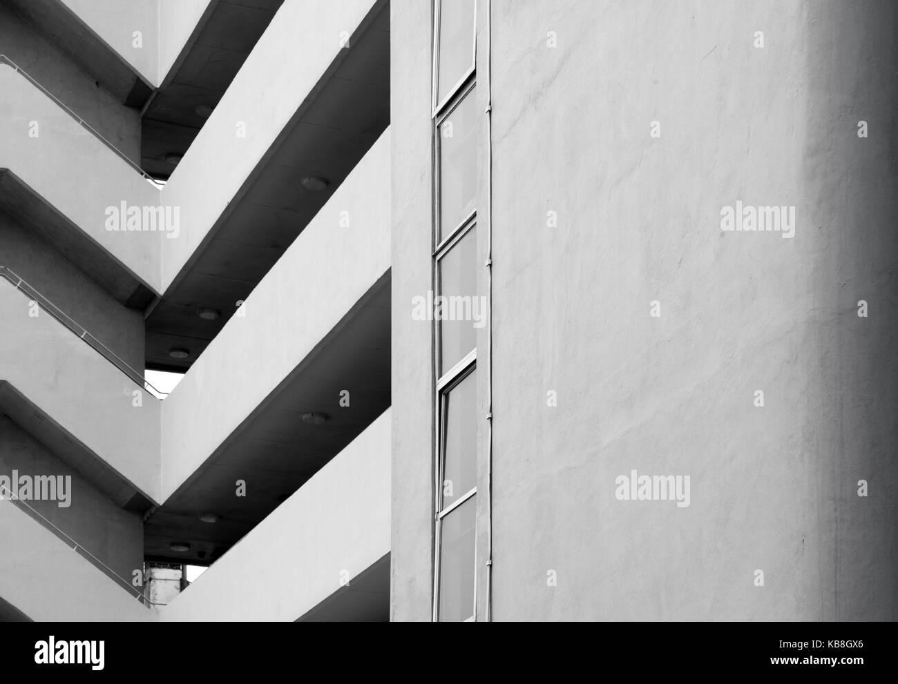 Corte de la embajada wells coates / modernista obra maestra del art deco en Brighton Foto de stock