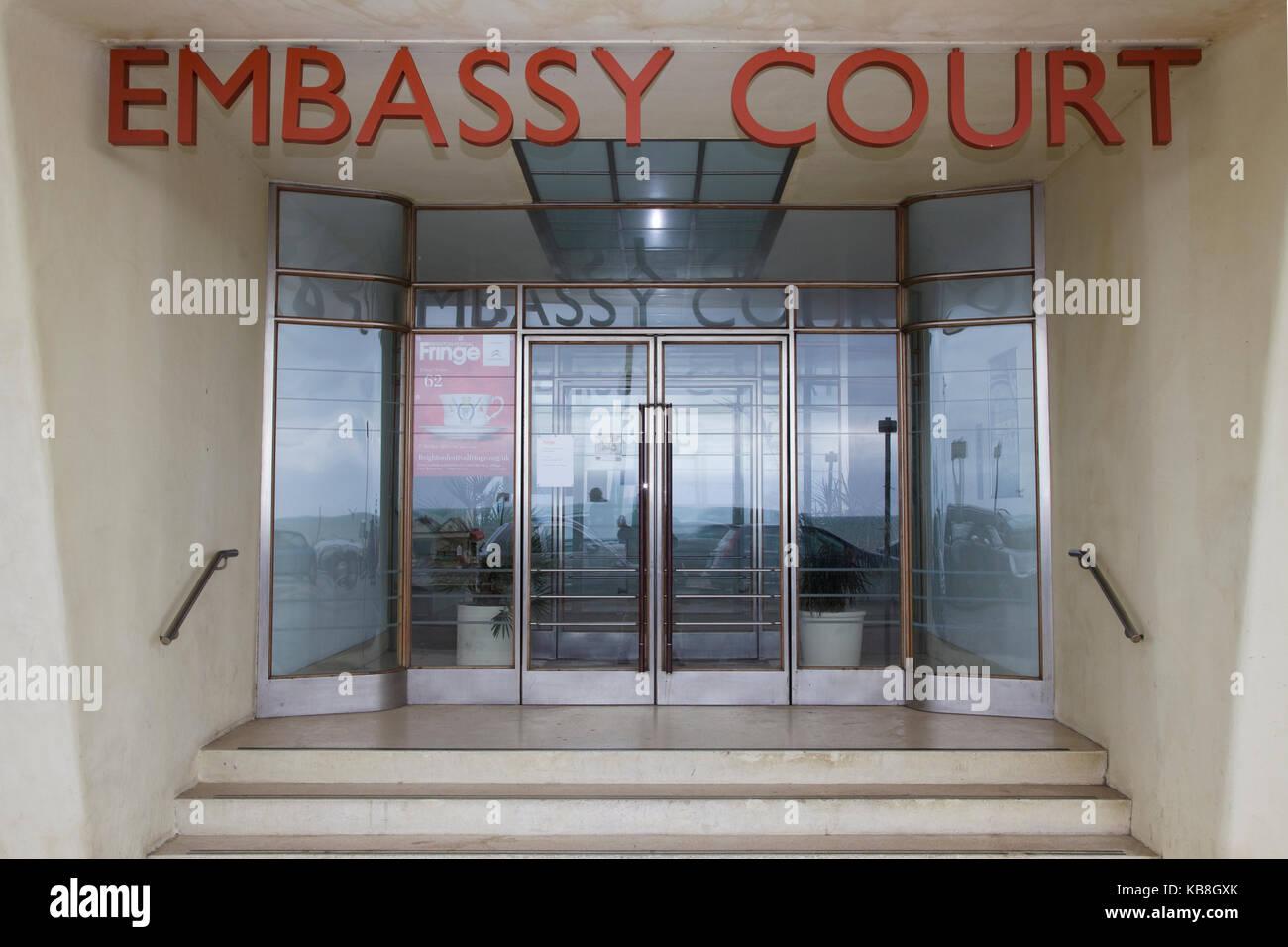 Corte de la embajada, Wells coates obra maestra del modernismo en Hove Foto de stock