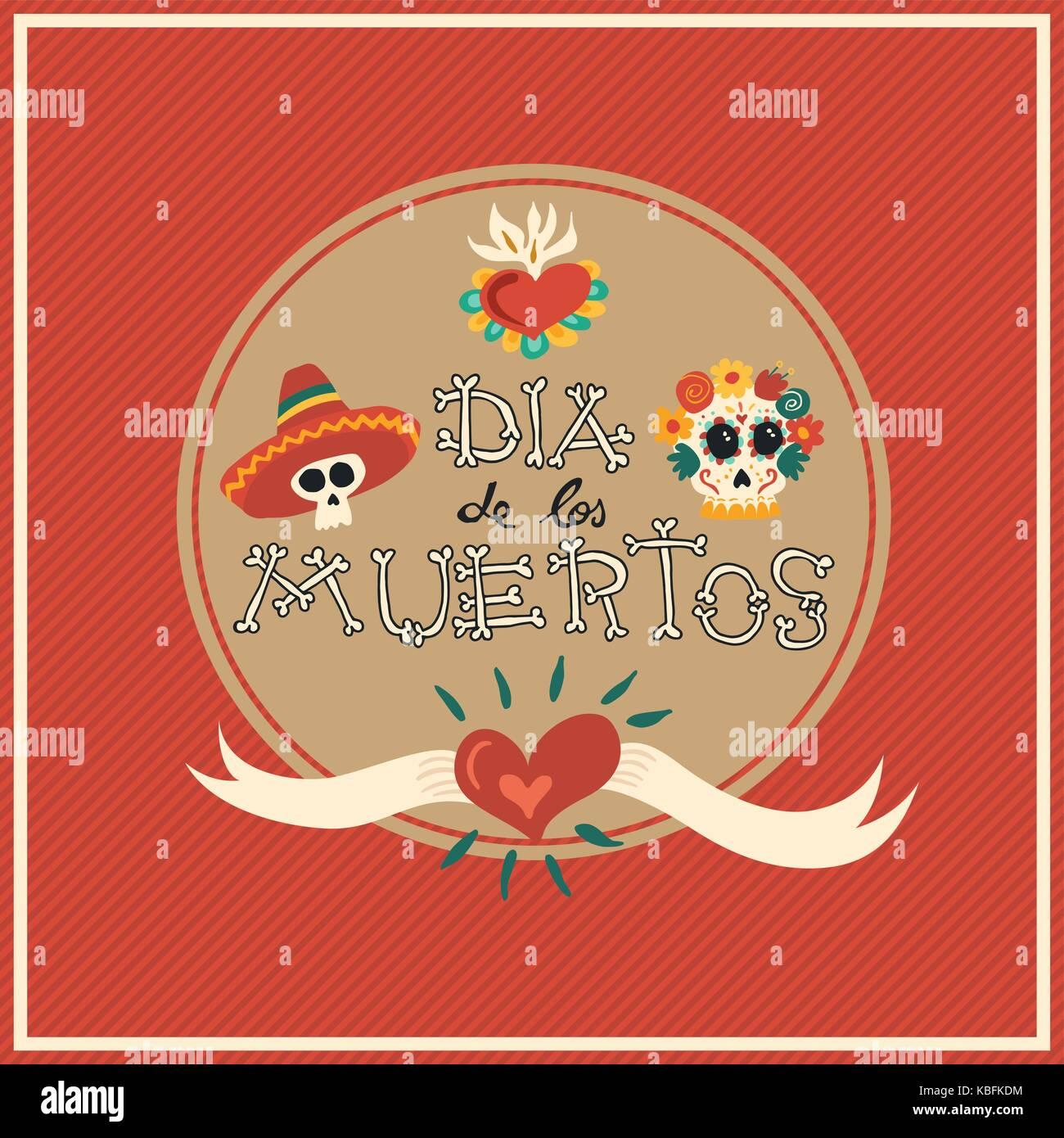 Día de Muertos calaveras de azúcar mariachi ilustración para la celebración  mexicana 82fd43e5865