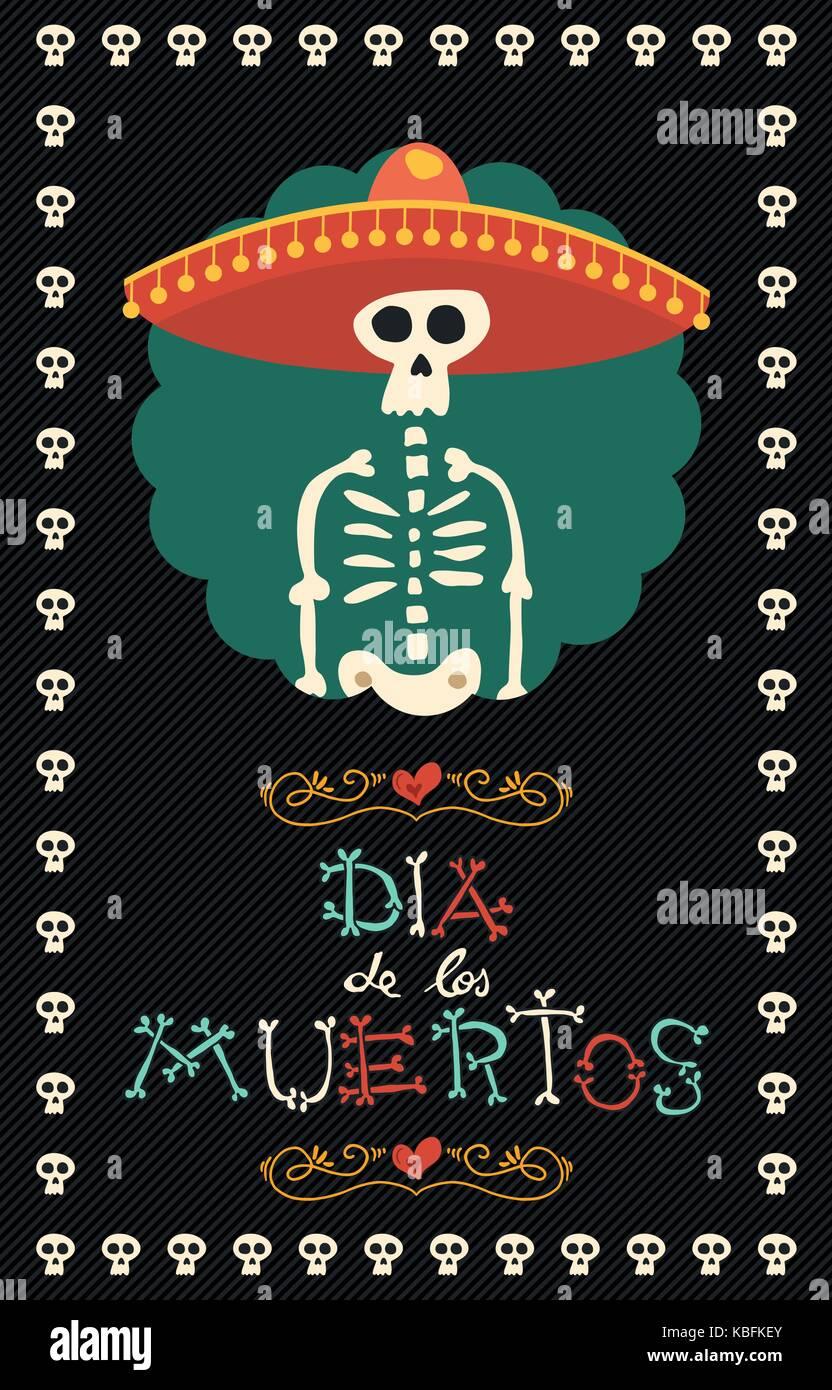 Día de Muertos calaveras de azúcar mariachi ilustración para la celebración  mexicana tradicional 5245826c01a
