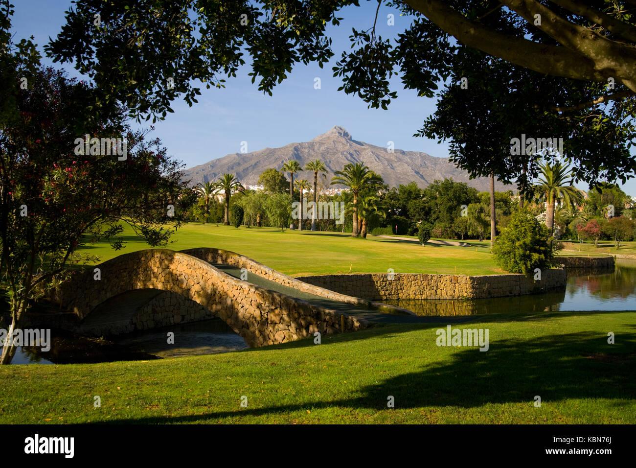 Campos de golf en Andalucía Foto de stock