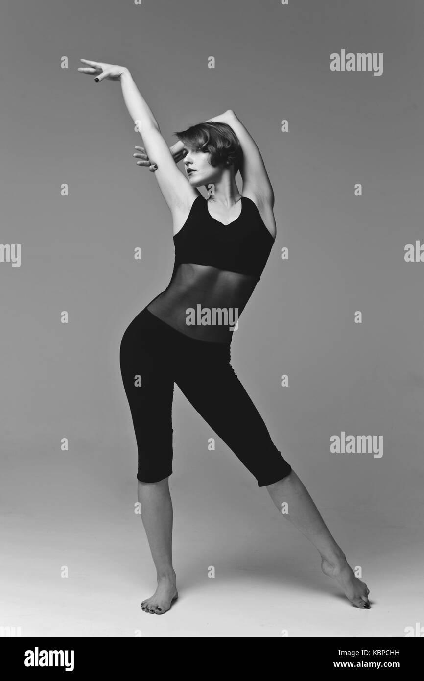 Mujer hermosa bailarina Imagen De Stock
