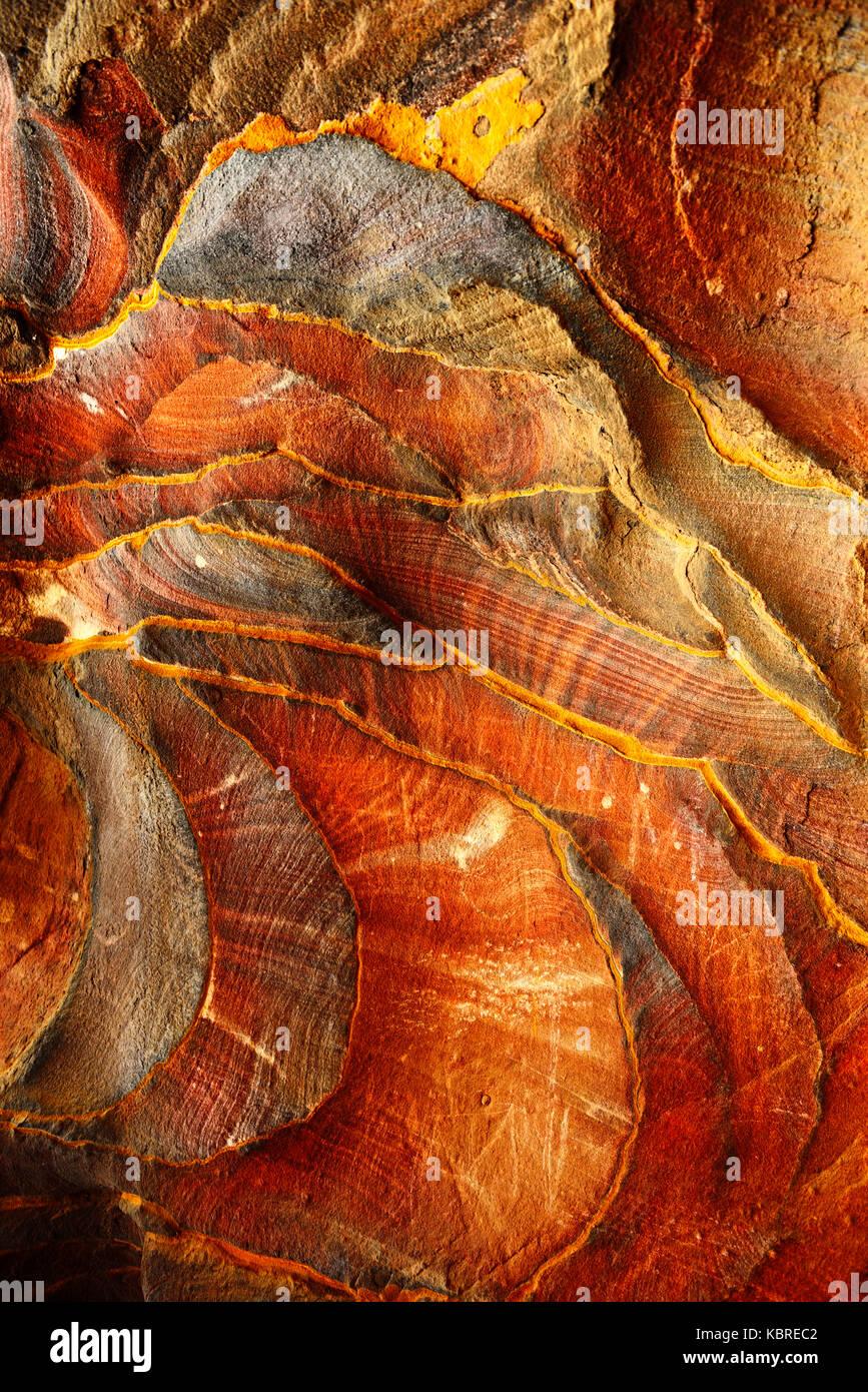 Coloridas formaciones de rocas de Petra, Wadi Musa, Jordania Imagen De Stock