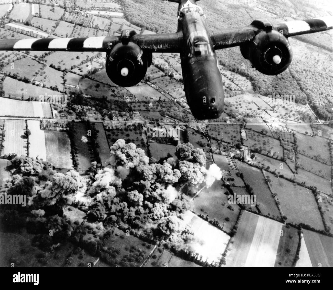 Douglas A-20 Havoc avión bombardero americano en acción durante la II Guerra Mundial Foto de stock