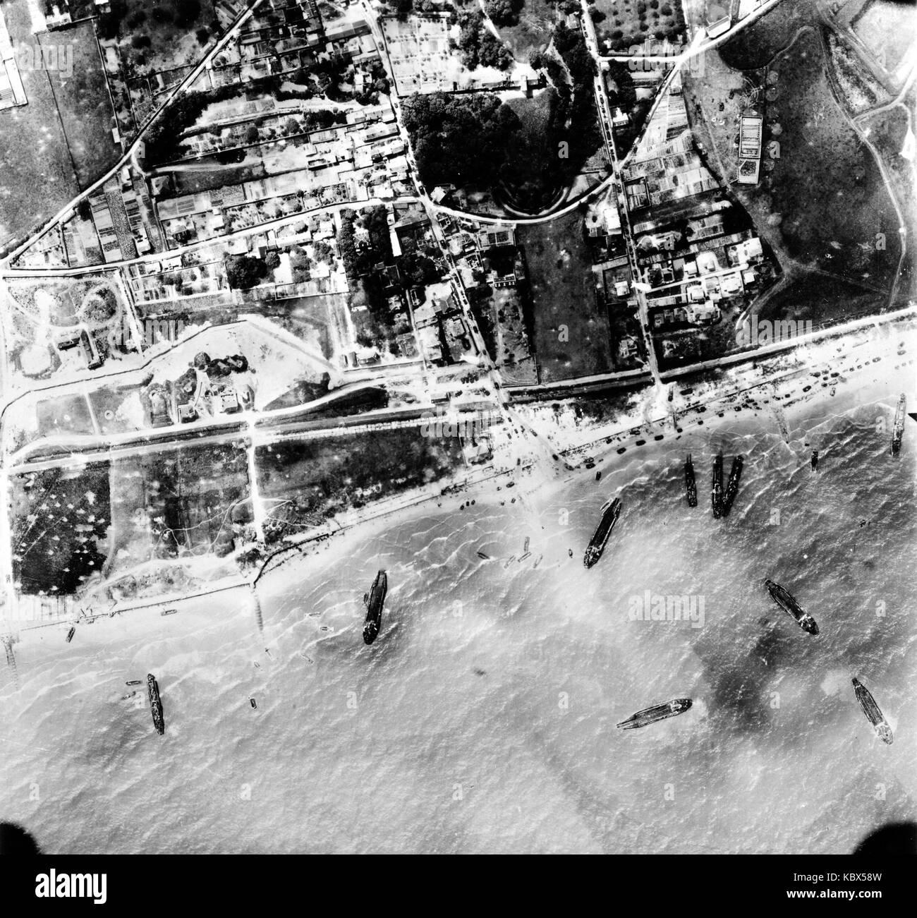 La fotografía aérea de los bombardeos aliados durante la segunda guerra mundial Foto de stock