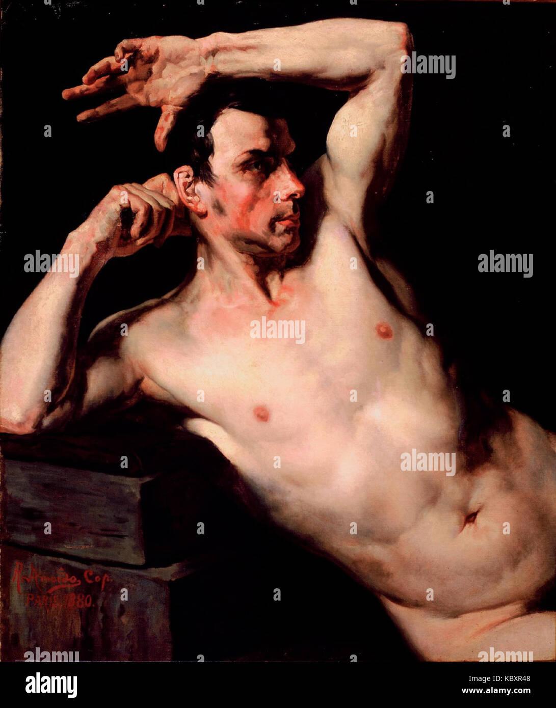 Rodolfo Amoedo Tronco masculino, 1880 Imagen De Stock