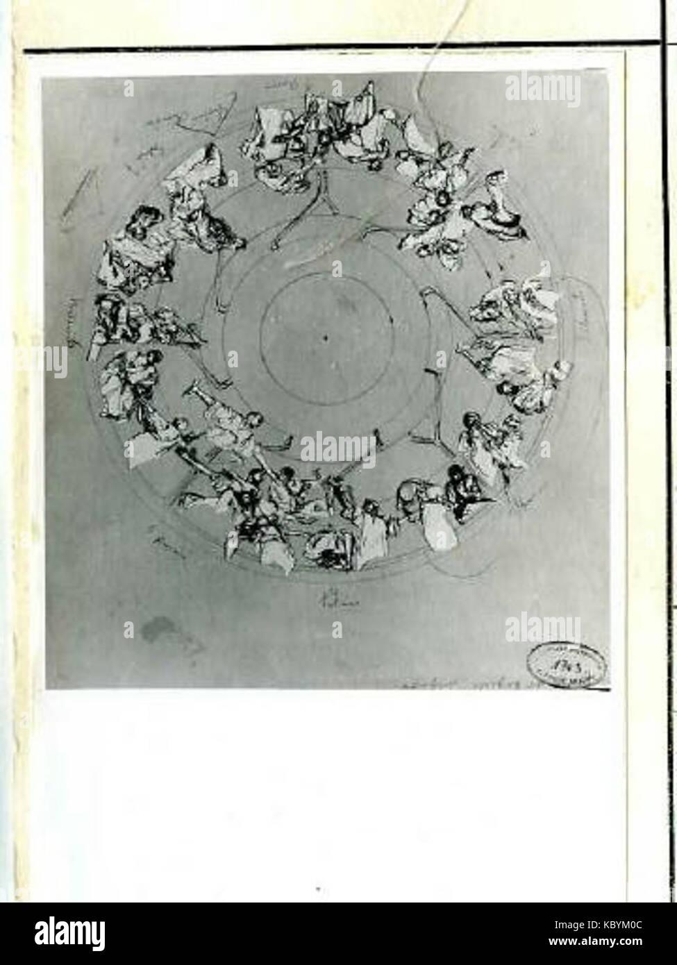 Autor Alfons Mucha 24.7.1860 14.7.1939 Studie stropu pro Primatorskou pecado Obecniho domu Foto de stock