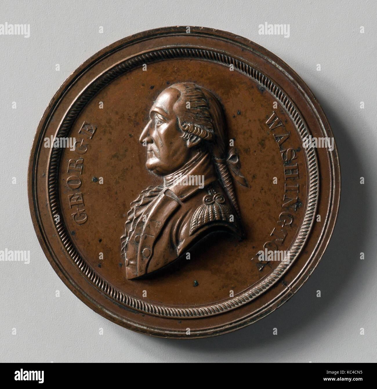 Medalla, 1870-1900, bronce, diam. 2 5/16 in. (5,9 cm), Metal, John A. Bolen (1826-1906 Foto de stock