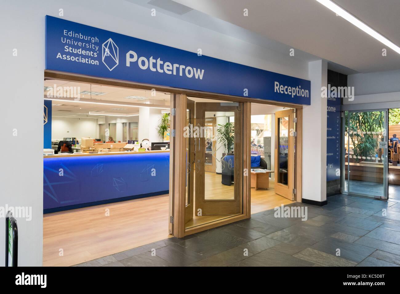 Potterrow - Asociación de Estudiantes de la Universidad de Edimburgo recepción Imagen De Stock