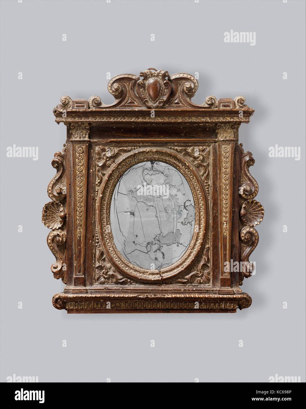 Tabernáculo Marco espejo, 1540-60, italiano, Florencia(?), nogal ...