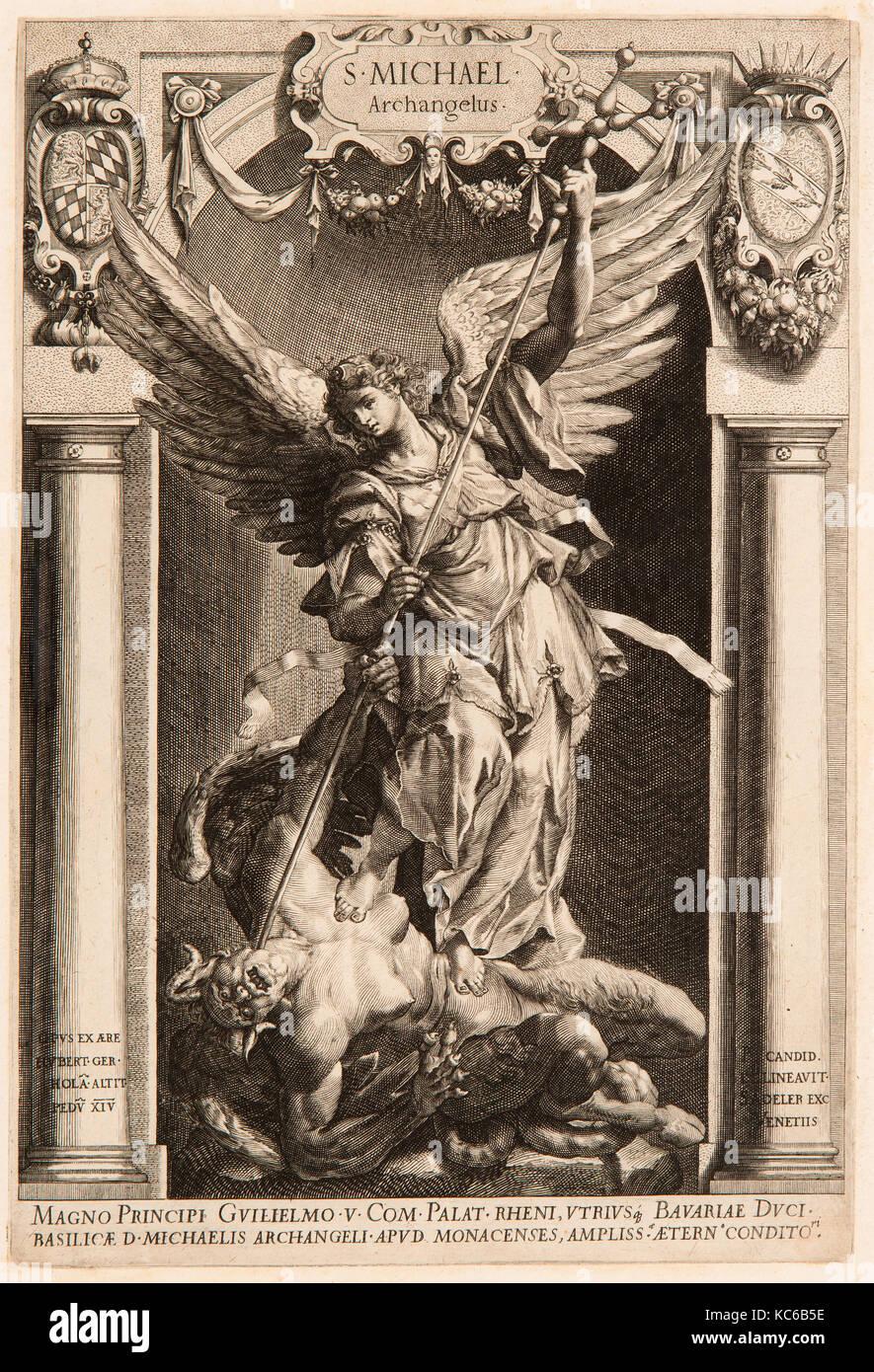Dibujos y Grabados, el arcángel Miguel venciendo a Satanás, en un ...