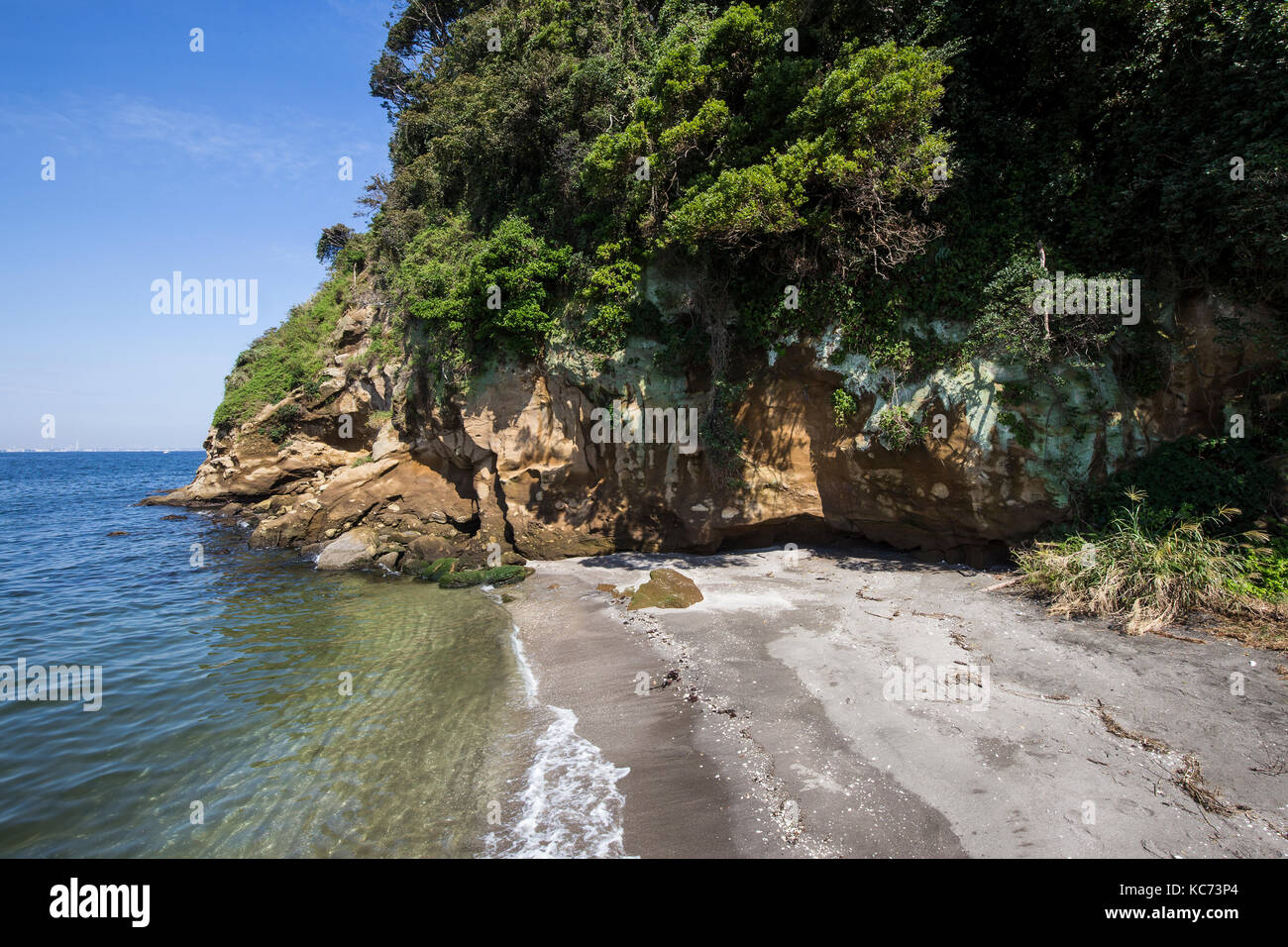 - Sarushima sarushima playa es sólo en la bahía de Tokio y deshabitada isla natural y está llena Imagen De Stock