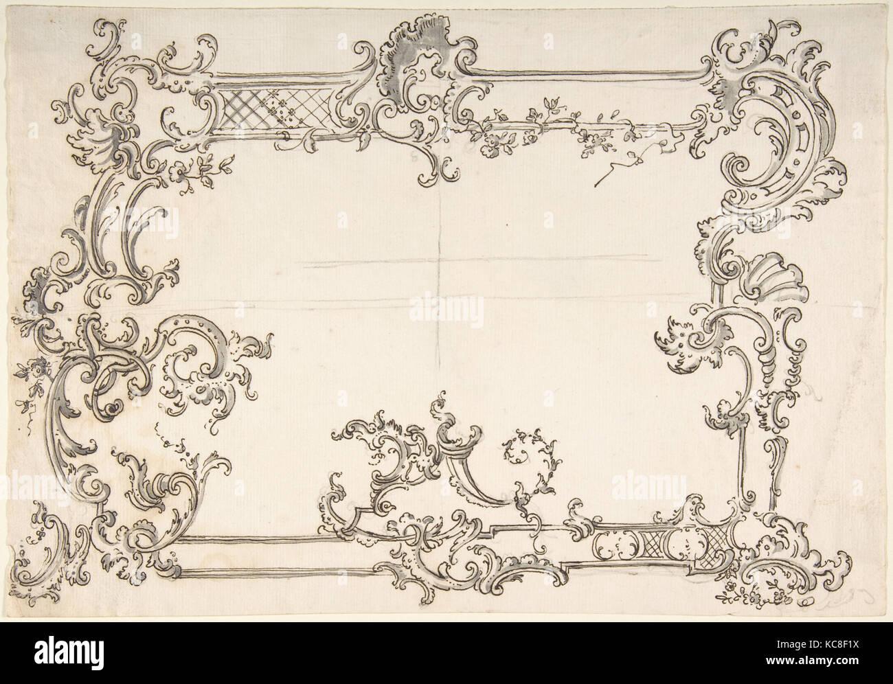 Para un marco de diseño rococó, anónimos, italiano, siglo XVIII Foto ...