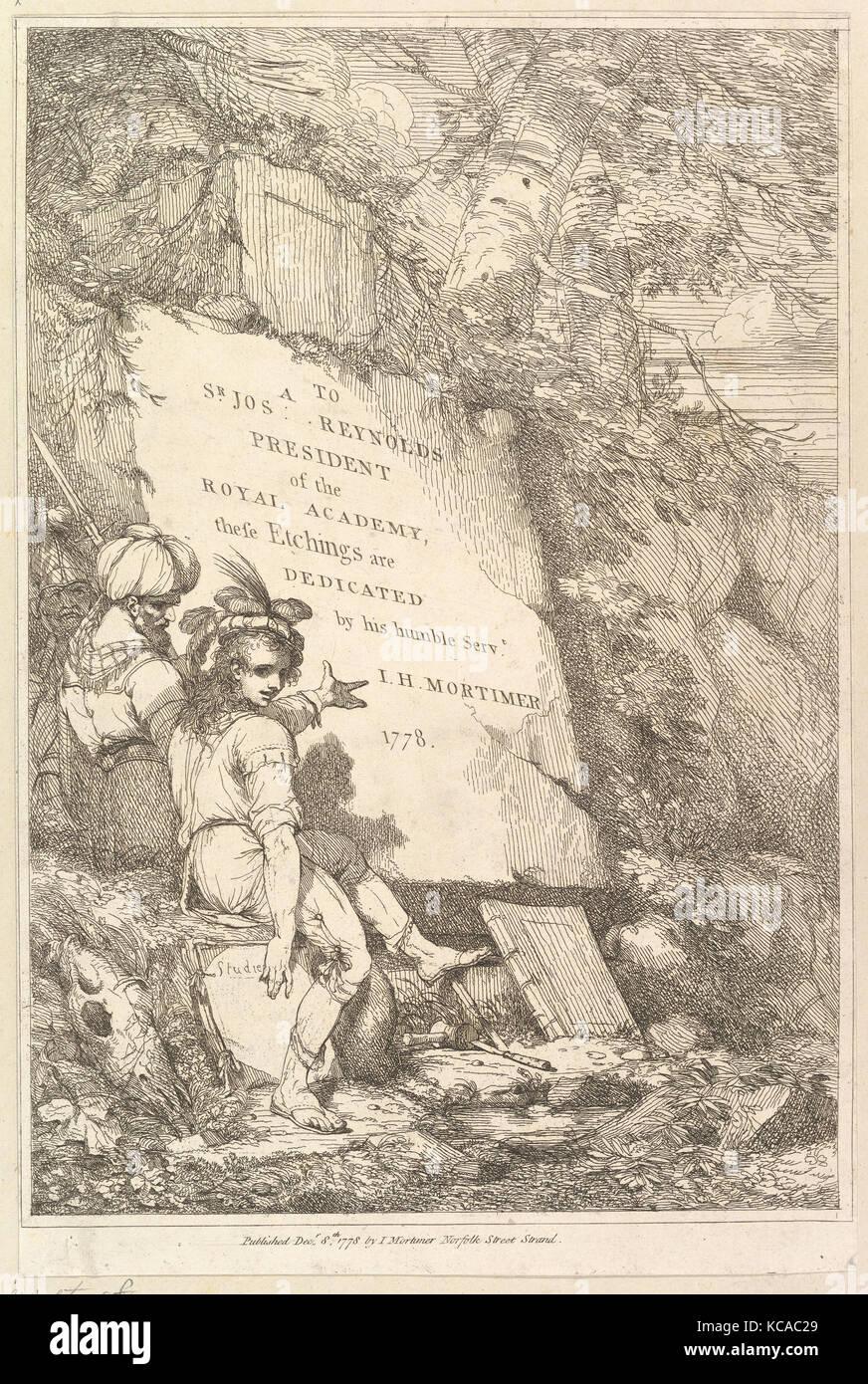 Frontispiece (quince aguafuertes dedicado a sir Joshua Reynolds), 1778 Imagen De Stock